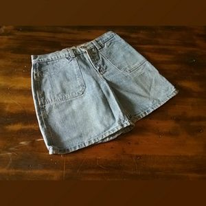 Faded Glory Vintage High Rise Denim Shorts Size 8